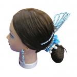 ブルーを基調にしたヘアメイク